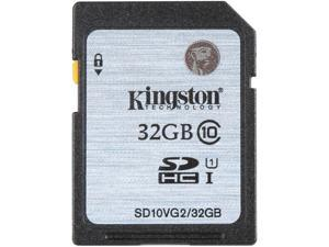 Kingston 32GB Secure Digital High-Capacity (SDHC) Flash Card Model SD10VG2/32GB