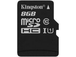 Kingston 8GB microSDHC Flash Card Single Pack w/o Adapter Model SDC10G2/8GBSP