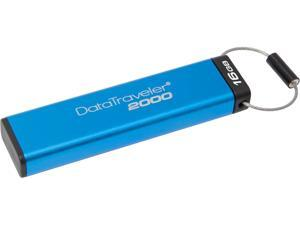 Kingston DataTraveler 2000 16GB Keypad USB Flash Drive 256-bit AES in XTS Mode Model DT2000/16GB
