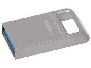 Kingston DataTraveler Micro 3.1 128GB USB 3.1/3.0 Metal Ultra-compact Flash Drive Model DTMC3/128GB