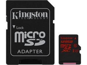 Kingston 128GB Flash Card + SD Adapter Model SDCA3/128GB