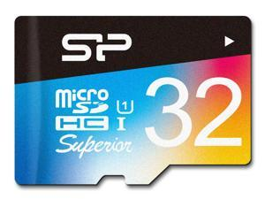 Silicon Power 32GB Superior Pro microSDHC UHS-I/U3 Class 10 Memory Card with Adapter, Speed Up to 90 MB/s (SP032GBSTHDU3V20SP)