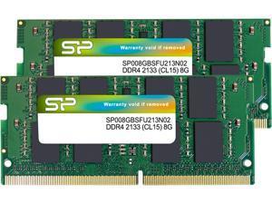 Silicon Power 16GB (2 x 8G) 260-Pin DDR4 SO-DIMM DDR4 2133 (PC4 17000) Laptop Memory Model SP016GBSFU213N22