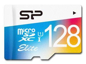 Silicon Power 128GB Elite microSDXC UHS-I/U1 Class 10 Memory Card with Adapter, Speed Up to 75MB/s (SP128GBSTXBU1V20BT)