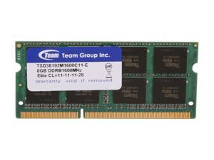 Team 8GB 204-Pin DDR3 SO-DIMM DDR3 1600 Laptop Memory Model TSD38192M1600C11-E