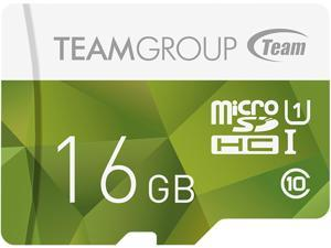 Team Group 16GB Color microSDHC UHS-I/U1 Class 10 Memory Card with Adapter, Speed Up to 80MB/s (TCUSDH16GUHS43)