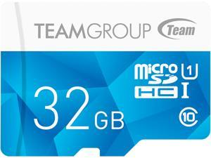 Team Group 32GB Color microSDHC UHS-I/U1 Class 10 Memory Card with Adapter, Speed Up to 80MB/s (TCUSDH32GUHS40)