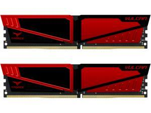 Team Vulcan 16GB (2 x 8GB) 288-Pin DDR4 SDRAM DDR4 2400 (PC4 19200) Desktop Memory Model TLRED416G2400HC14DC01