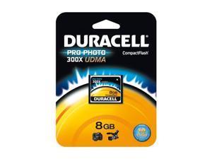 Duracell 8GB Compact Flash (CF) Flash Card Model DU-CF30-08G-C
