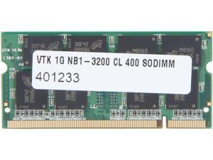 Visiontek 1GB 200-Pin DDR SO-DIMM DDR 400 (PC 3200) Laptop Memory Model 900644