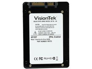 "VisionTek Go Drive 2.5"" 240GB SATA III MLC Low Profile Opal 1.0 Encryption Ready SSD 900753"