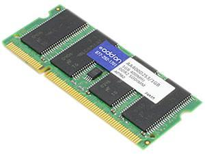 AddOn - Memory Upgrades  1GB  200-Pin DDR2 SO-DIMM  DDR2 400 (PC2 3200)  Laptop MemoryModel AA400D2S3/1GB