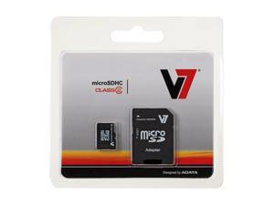 V7 16GB microSDHC Flash Card w/ SD Adapter Model VAMSDH16GCL2R-1N