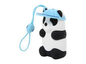 Bone Collection Panda Driver Couple 4GB USB 2.0 Flash Drive (White/Blue hat/Cellstrap) Model DR08022-4B