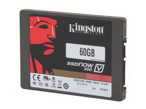 "Kingston  SSDNow V300 Series  SV300S3N7A/60G  2.5""  60GB  SATA III  Internal Solid State Drive (SSD) Notebook Bundle Kit - Retail"