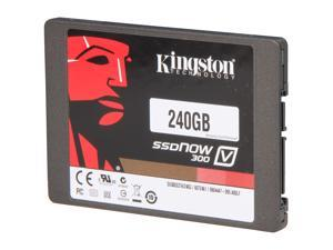 "Kingston  SSDNow V300 Series  SV300S3N7A/240G  2.5""  240GB  SATA III  Internal Solid State Drive (SSD) Notebook Bundle Kit - Retail"