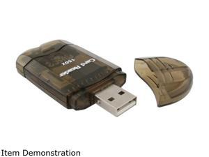 INSTEN 1042703 4-in-1 USB 2.0 Smoke Color Mini Memory Card Reader