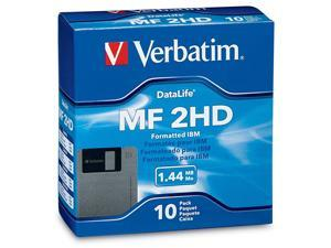 "Verbatim 87410 1.44MB 10 Packs 3.5"" Floppy Diskette"