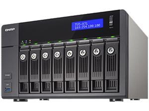 QNAP TVS-871-i3-4G-US Diskless System High-performance Turbo vNAS with 4K video playback and transcoding