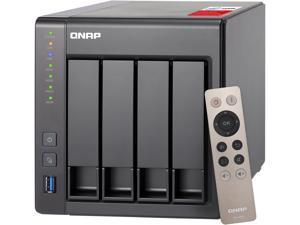 QNAP TS-451+-8G-US 4-Bay Personal Cloud NAS with HDMI output, DLNA, AirPlay and PLEX Support Black case, Remote Control Included