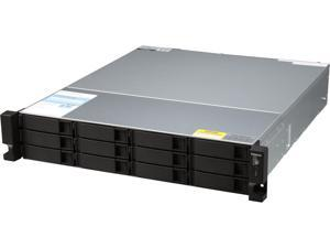 QNAP TS-1263U-RP-4G-US High performance quad-core 10GbE NAS with redundant power supplies, 4GB RAM