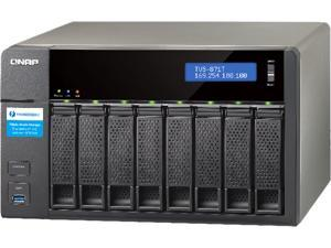 QNAP TVS-871T-i5-16G-US High-performance Thunderbolt 2 Turbo vNAS for a DAS / NAS / iSCSI SAN triple solution
