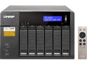 QNAP TS-653A-4G-US (4GB RAM version) 6-Bay Professional-grade NAS. Intel Braswell Quad-core 1.6 GHz CPU with Media Transcoding