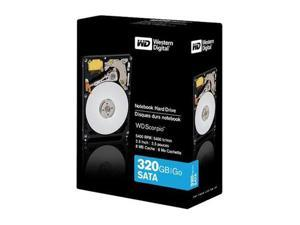 "WD Scorpio Blue WD3200BEVTRTL 320GB 5400 RPM 8MB Cache SATA 3.0Gb/s 2.5"" Internal Notebook Hard Drive Retail"