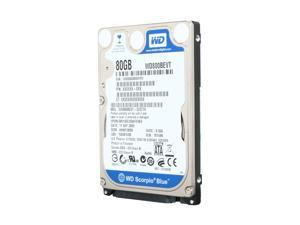 "Western Digital Scorpio Blue WD800BEVT 80GB 5400 RPM 8MB Cache SATA 3.0Gb/s 2.5"" Internal Notebook Hard Drive Bare Drive"