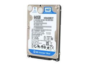 "Western Digital Scorpio Blue WD6400BEVT 640GB 5400 RPM 8MB Cache SATA 3.0Gb/s 2.5"" Internal Notebook Hard Drive Bare Drive"