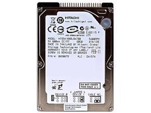 "Hitachi GST Travelstar 5K160 HTS541660J9AT00 (0A28416) 60GB 5400 RPM 8MB Cache IDE Ultra ATA100 / ATA-6 2.5"" Notebook Hard Drive Bare Drive"