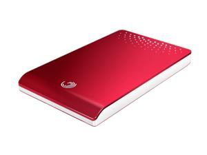 "Seagate FreeAgent Go 500GB USB 2.0 2.5"" External Hard Drive ST905003FDA2E1-RK Ruby Red"