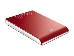 "Seagate FreeAgent Go Special Edition 500GB USB 2.0 2.5"" External Hard Drive with Dock ST905003FPA2E1-RK Red Chrome"