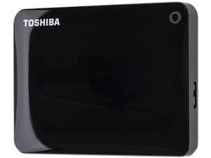 TOSHIBA 500GB Canvio Connect II Portable Hard Drive USB 3.0 Model HDTC805XK3A1 Black