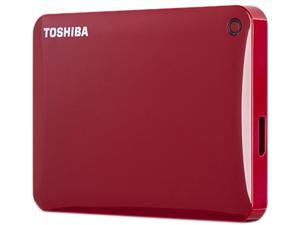 TOSHIBA 1TB Canvio Connect II Portable Hard Drive USB 3.0 Model HDTC810XR3A1 Red