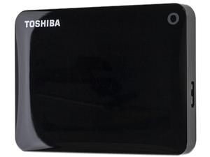 TOSHIBA 2TB Canvio Connect II Portable Hard Drive USB 3.0 Model HDTC820XK3C1 Black