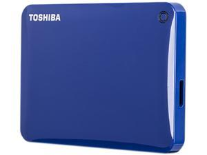 TOSHIBA 2TB Canvio Connect II Portable Hard Drive USB 3.0 Model HDTC820XL3C1 Blue