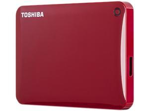 TOSHIBA 2TB Canvio Connect II Portable Hard Drive USB 3.0 Model HDTC820XR3C1 Red