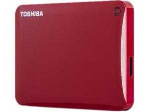 TOSHIBA 3TB Canvio Connect II Portable Hard Drive USB 3.0 Model HDTC830XR3C1 Red