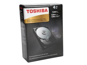 "TOSHIBA X300 HDWE140XZSTA 4TB 7200 RPM 128MB Cache SATA 6.0Gb/s 3.5"" Desktop Internal Hard Drive Retail Packaging"