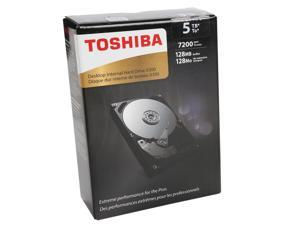 "TOSHIBA X300 HDWE150XZSTA 5TB 7200 RPM 128MB Cache SATA 6.0Gb/s 3.5"" Desktop Internal Hard Drive Retail Packaging"