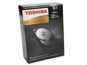 "TOSHIBA X300 HDWE160XZSTA 6TB 7200 RPM 128MB Cache SATA 6.0Gb/s 3.5"" Desktop Internal Hard Drive Retail Packaging"