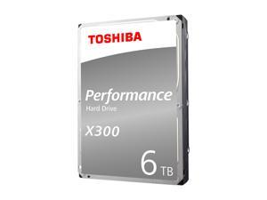 "TOSHIBA X300 6TB Desktop Hard Drive 7200 RPM 128MB Cache SATA 6.0Gb/s 3.5"" Internal Hard Drive Retail Packaging HDWE160XZSTA"