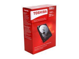 "TOSHIBA P300 HDWD105XZSTA 500GB 7200 RPM 64MB Cache SATA 6.0Gb/s 3.5"" Desktop Internal Hard Drive Retail Kit"