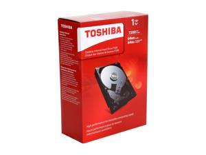 "TOSHIBA P300 HDWD110XZSTA 1TB 7200 RPM 64MB Cache SATA 6.0Gb/s 3.5"" Desktop Internal Hard Drive Retail Packaging"
