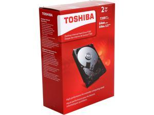 "TOSHIBA P300 HDWD120XZSTA 2TB 7200 RPM 64MB Cache SATA 6.0Gb/s 3.5"" Desktop Internal Hard Drive Retail Kit"