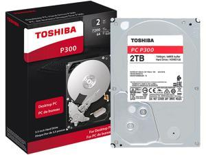 "TOSHIBA P300 2TB Desktop Hard Drive 7200 RPM 64MB Cache SATA 6.0Gb/s 3.5"" Internal Hard Drive Retail Packaging HDWD120XZSTA"