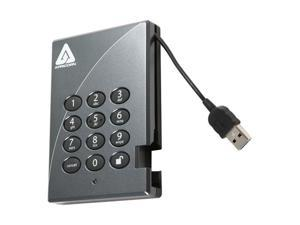APRICORN 500GB Aegis Padlock Secure 128-bit AES Hardware Encrypted Portable Hard Drive USB 2.0 Model A25-PL128-500