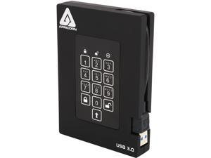 APRICORN Aegis Padlock Fortress 1TB USB 3.0 FIPS 140-2 Encrypted External Hard Drive With PIN Access A25-3PL256-1000F