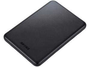 BUFFALO 500GB Black Portable USB3.0/2.0 Storage with Ultra Slim Aluminum Body